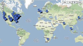 Bloggers Map