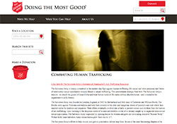 The Salvation Army Human Trafficking resource page