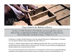 IJM Prayer Guide for the Abolition of Slavery