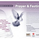 International Weekend of Prayer and Fasting for Victims of Sexual Trafficking