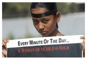 every minute of the day a woman or child is sold