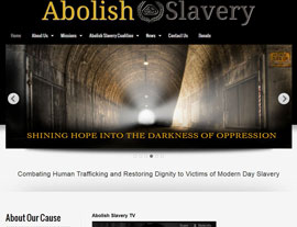 Abolish Slavery Coalition website screenshot