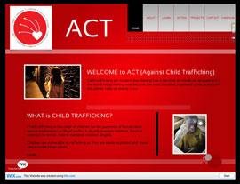 Against Child Trafficking (ACT) website screenshot