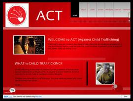 Against Child Trafficking (ACT) website screenshot