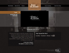 At the End of Slavery website screenshot