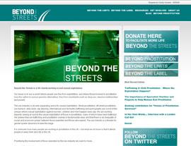 Beyond the Streets website screenshot
