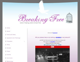 Breaking Free website screenshot