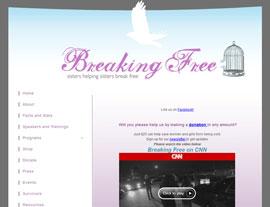 Breaking Free website screenshot