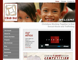 Chab Dai website screenshot