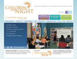 Children of the Night website screenshot