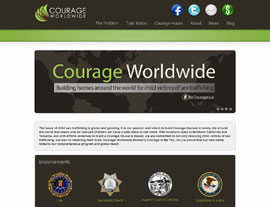Courage Worldwide website screenshot