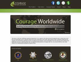 Courage Worldwide website screenshot