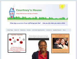 Courtney's House website screenshot