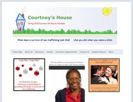 Courtney's House website screenshot