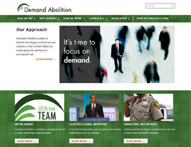 Demand Abolition website screenshot