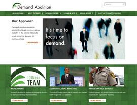 Demand Abolition website screenshot