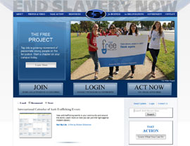 End Slavery Now website screenshot