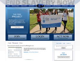End Slavery Now website screenshot