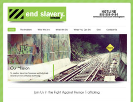 End Slavery Tennessee website screenshot