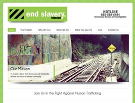 End Slavery Tennessee website screenshot