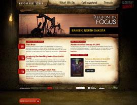 Exodus Cry website screenshot