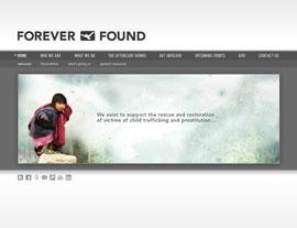Forever Found website screenshot