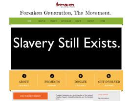 Forsaken Generation website screenshot