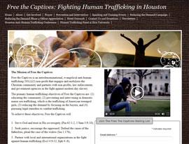 Free the Captives website screenshot