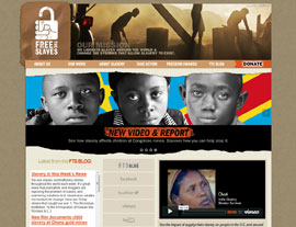 Free the Slaves website screenshot