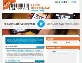 Free2Work website screenshot