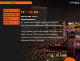 Freedom – 268 Generation website screenshot