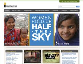 Freedom Center website screenshot