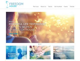 Freedom House website screenshot