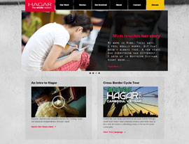 Hagar International website screenshot