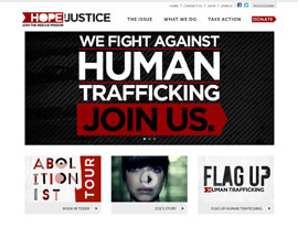 Hope for Justice website screenshot