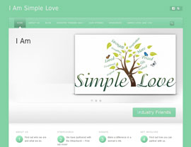 I Am Simple Love website screenshot