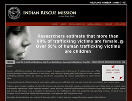 Indian Rescue Mission website screenshot
