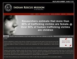 Indian Rescue Mission website screenshot