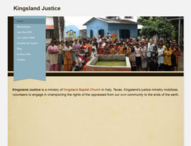 Kingsland Justice website screenshot
