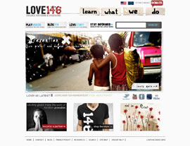 Love146 website screenshot