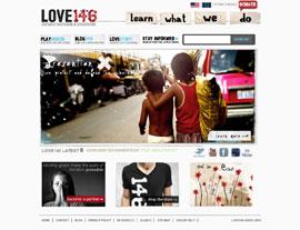 Love146 website screenshot