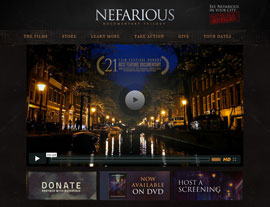 Nefarious website screenshot