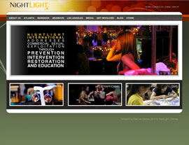 NightLight website screenshot