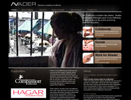 NVader website screenshot