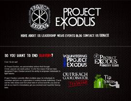 Project Exodus website screenshot