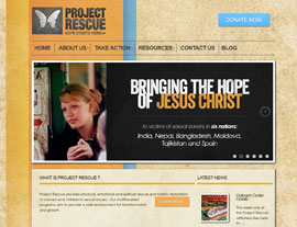 Project Rescue website screenshot