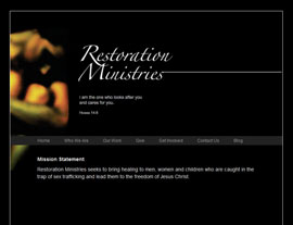 Restoration Ministries website screenshot