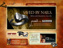 Saved by Nails website screenshot