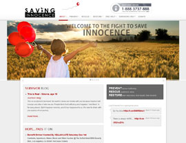 Saving Innocence website screenshot