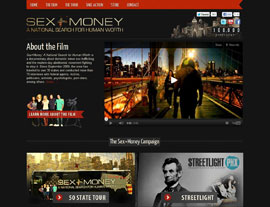Sex + Money website screenshot
